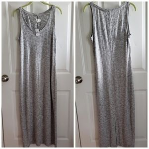 NWT Lou & Grey Gray Spacedye Maxi Dress Size M